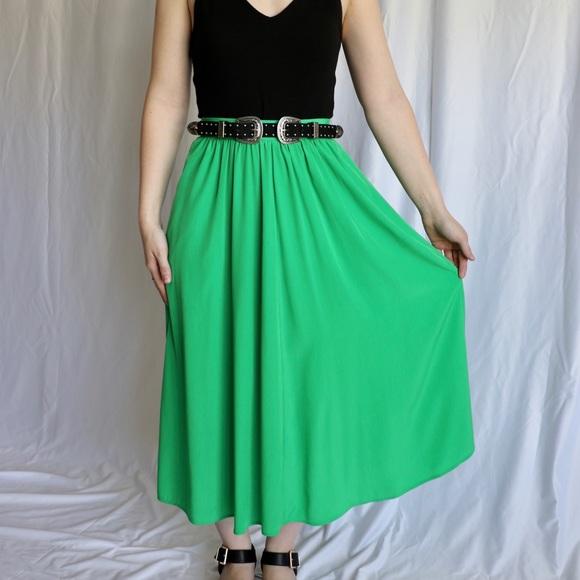 9c5c8dbbc5 Vintage Skirts | Lilli Ann Green Midi Skirt | Poshmark